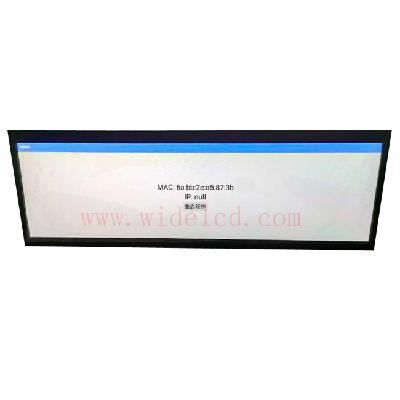 Double side ceiling mounted lcd  screen stretched lcd with andriod