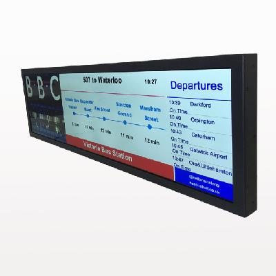 Wide LCD Panel for Bus Subway Digital Signage Screen  Display