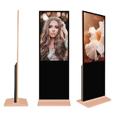 60 inch floor stand lcd display touch screen indoor android advertising tv information totem retail