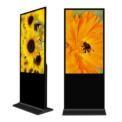 55 Inch Indoor full color high brightness lcd advertising Player Floor Standing Digital Signage