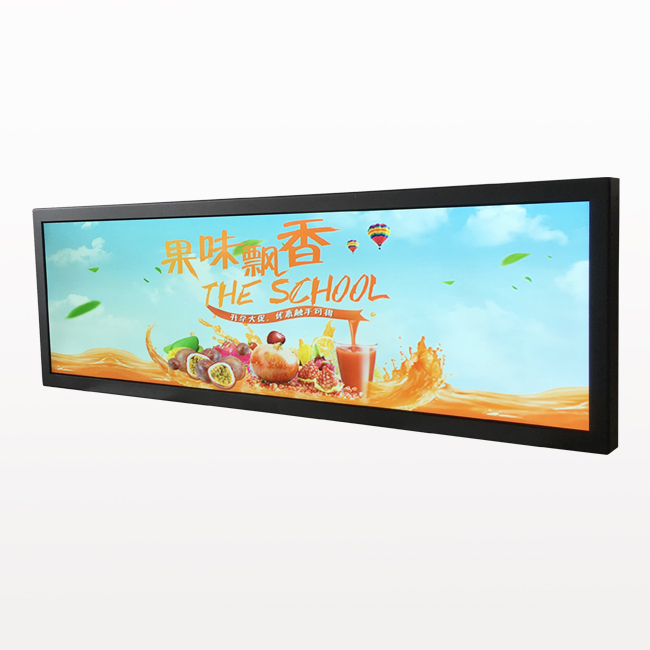 Wall Mount Advertising Display Ultra-stretched TFT LCD Screen