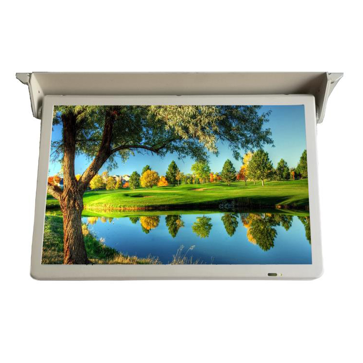 19 inch LCD roof mount auto flip down display digital signage screen for bus