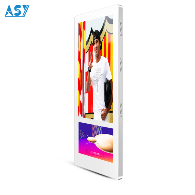 Ultra wide format vertical mounted elevator LCD displays lift screen