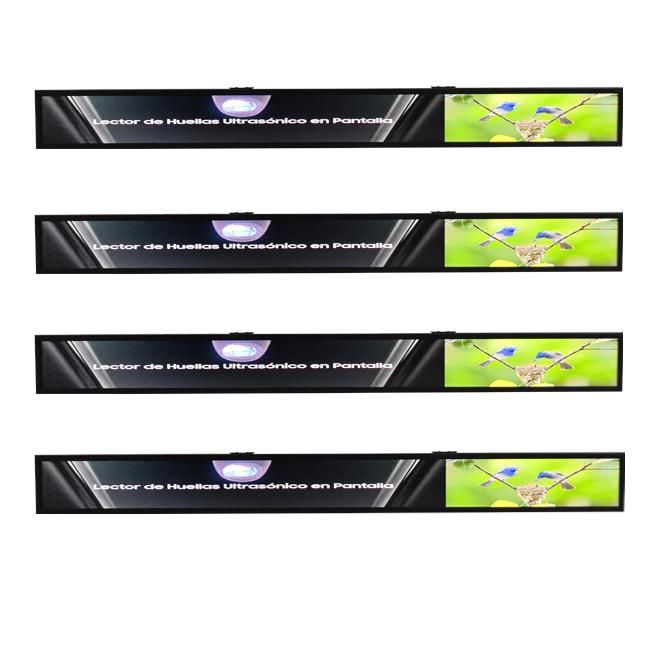 Easy to Install FHD ultra thin shelf edge lcd display digital signage